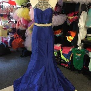 Dresses & Skirts - PROM Dress blue sequins